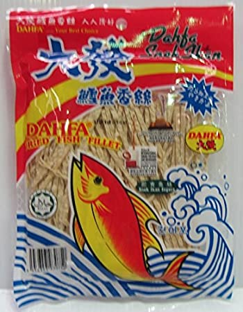 Amazon com: Dahfa Dried Fish Fillet Snack 120g Pack (Malaysia Import)