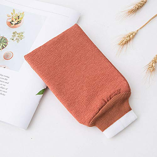 (Candy Color Loofah Shower Gloves Exfoliating Bath Mitt Cleansing Body Scrubber (Colors - Red))