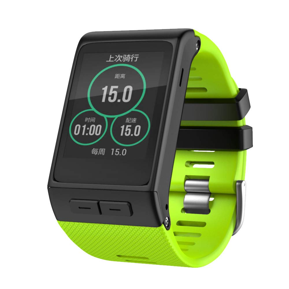Replacement Strap Compatible Garmin vivoactive HR, Sport Soft Silicone Replacement Band Watchband for Garmin vivoactive HR, TLT Retail (Green)