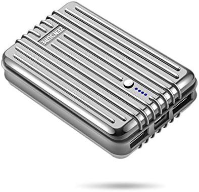 Zendure A3 Bateria externa 10000mAh Power Bank, Cargador portátil con 2 Puertos USB y cargar a través de la tecnología para iPhone, iPad, Samsung, ...