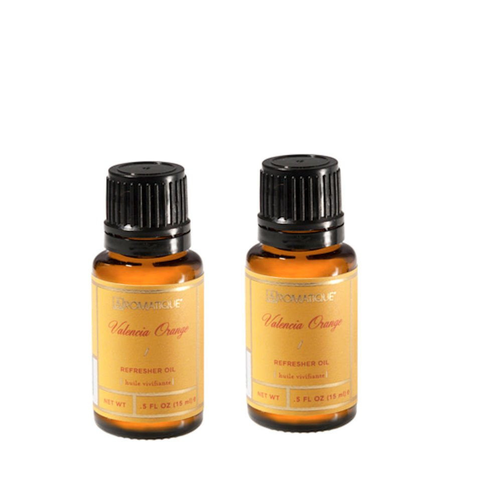 Package of TWO (2) Aromatique .5 Ounce Refresher Oils - Valencia Orange (2)