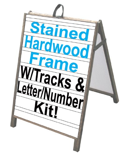 NEOPlex 25'' x 36'' Sidewalk A-frame Sandwich Board Sign w/Letter Track Insert Panels and Full Letter Kit by NEOPlex