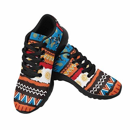 Interestprint Ethnique Ornement Set Femmes Jogging Running Sneaker Léger Aller Facile Chaussures De Marche Multi 1