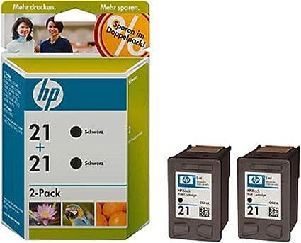 HP 21 - Cartucho de tinta (2 unidades, rendimiento de 190 ...