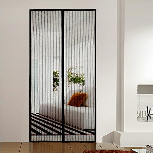 Magnetic Screen Door : Homitt magnetic screen door with heavy duty mesh curtain