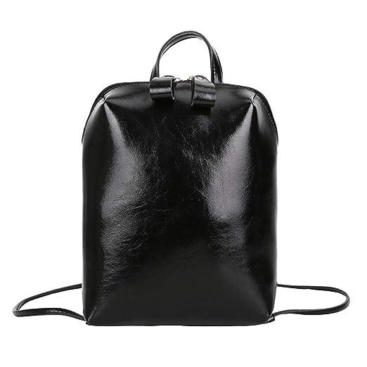 485cbc4ed1fd Amazon.com  Challyhope Backpack Clearance! Women Backpack Purse Soft PU Leather  Fashion Lightweight School Travel Shoulder Bag (Black)  Clothing