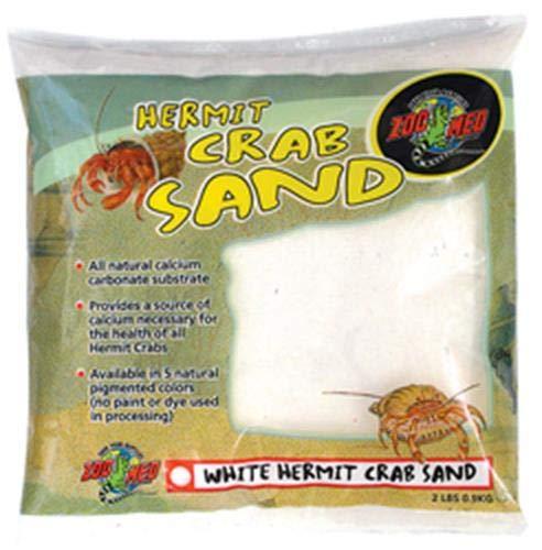 Zoo Med Laboratories SZMHC2W Hermit Crab, 2-Pound, Sand White ()