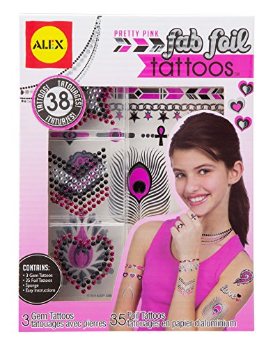 ALEX Toys Spa Fab Foil Tattoos Pretty Pink