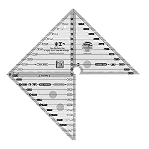 "Creative Grids Multi Size 6"" Flying Geese 45 Degree and 90 Degree Triangle Quilting Ruler Template CGRMSFG4590"
