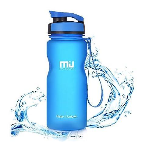 MIU COLOR 1l//600ml Bouteille deau Gourde de Sport Plastique Non-Toxique /Écologique sans BPA