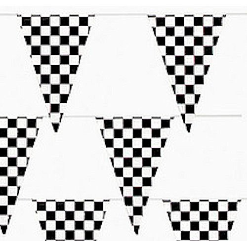 500 Ft Checkered Flag Banner Pennant Car Racing Party (5 packs) by Fun Express (Image #4)