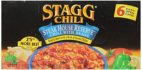 (Stagg Chili Steakhouse Reserve Chili with Beans, 15 Ounce, 6 Count)