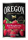 Oregon Fruit Red Raspberries in Syrup, 15-Ounce Cans (Pack of 8)