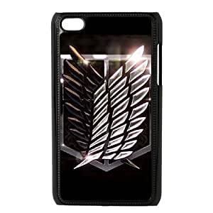 Attack On Titan for Ipod Touch 4 Cell Phone Case & Custom Phone Case Cover R13A651468