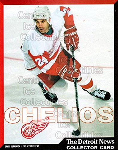 (CI) Chris Chelios Hockey Card 1999-00 Detroit Red Wings Detroit News Collector Cards 3 Chris Chelios