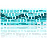 """TopCase Wave Series Silicone Keyboard Cover Skin for New Macbook Air 11"""" Model: A1465 + TopCase Mouse Pad (New macbook air 11"""" A1465, Aqua Blue)"""