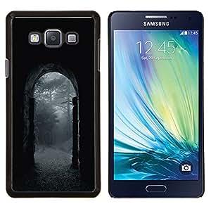 Stuss Case / Funda Carcasa protectora - Noche Lluvia Gris Puerta Naturaleza - Samsung Galaxy A7 A7000