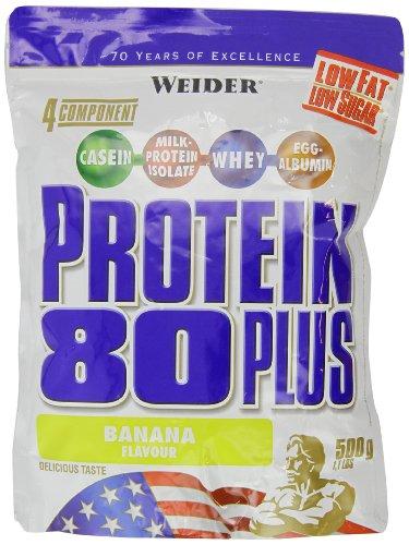 Weider 80 Plus Protein, Banane, 500g Beutel
