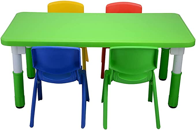 Juego de sillas para mesa de actividades para niños, juego de mesa de madera para dibujar, mesa de juegos para niños pequeños, mesa de escritorio para juegos infantiles: Amazon.es: Hogar
