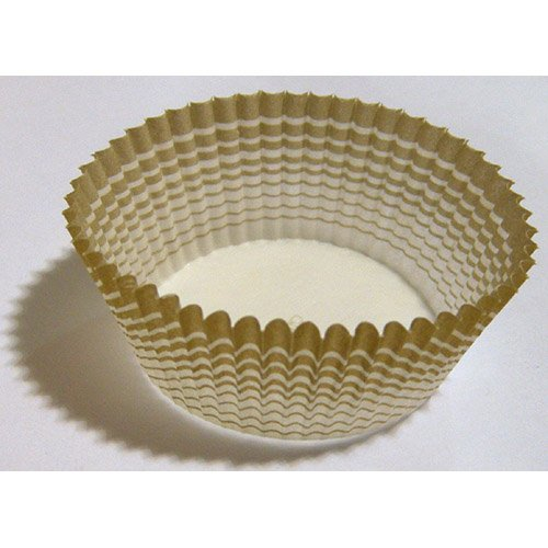 Novacart Round Paper Cup with Gold-Patterned Outside, 2-5/16'' Base Diameter, 1-1/16'' High, Box of 2000 Pieces by Novacart (Image #1)