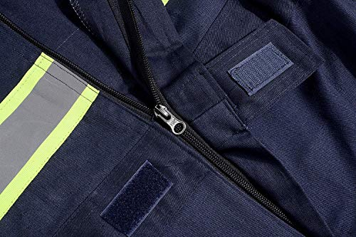 Men's High Visibility Work Coverall Reflective Safety Workwear Long Sleeve (XL, Navy) by XinAndy (Image #5)