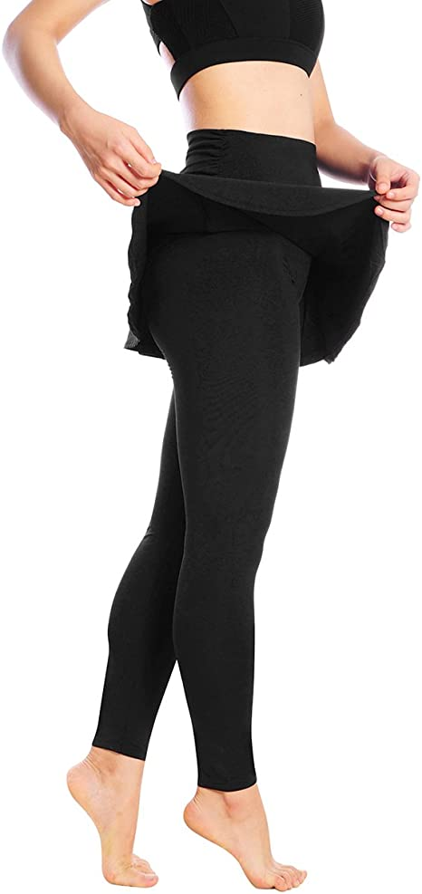 Falda Leggings – Camiseta de faldas Casual Gimnasio Tenis falda ...
