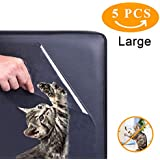 Z-H-C 5 Pack (12x17Inch) Furniture Protectors from Cats, Pet Couch Protector, Cat Dog Claw Guards Self-Adhesive Pads + Twist pins, Cat Dog Claw Guards for Sofa, Walls, Doors- Cat Scratch Deterrent