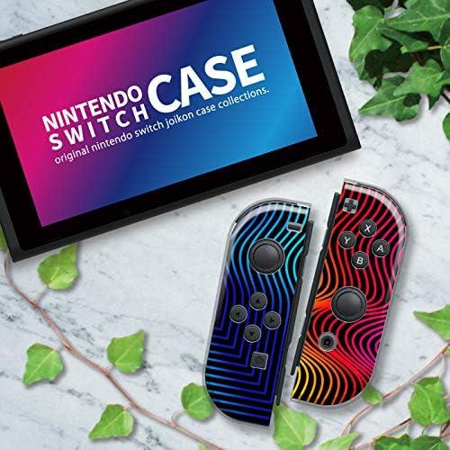 Nintendo Switch ケース 任天堂 スイッチ ジョイコン ケース ハードタイプ 傷から守る アブストラクト 幾何学 ジオメトリック ラインアート ブルー レッド パープル ネイビー ピンク ブラック 赤 青 茶色 人気 かっこいい おしゃれ