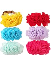 JpGdn 8pcs Dog Collar Charms Puppy Collar Bows Doggy Collar Bow Ties Flowers Assorted Colors for Small Medium Large Dogs Cat Kitten Rabbit Pet Sliders Grooming Accessories Attachment Embellishment