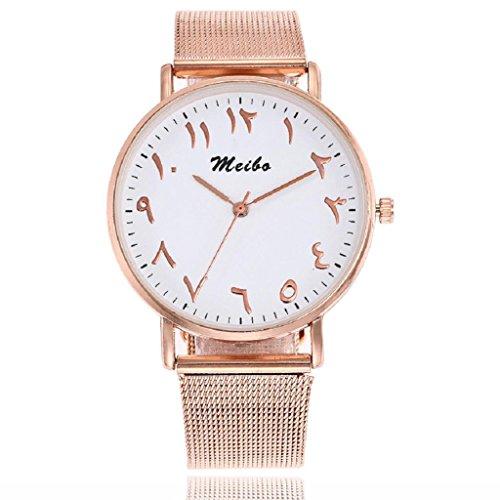 Unisex Quartz Watch Hosamtel Women Men Casual Stainless Steel Strap Starlight Analog Wrist Watch (Rose - Online Uk Watch Retailers