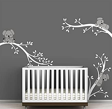bdecoll three koalas tree branches wall decal wall sticker baby