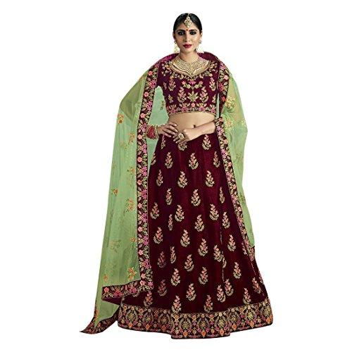 Cotton Chaniya Cholis (Velvet Bridal Wedding Designer Bollywood Women Lehenga Choli Dupatta Ceremony Chaniya Choli Collection 721)