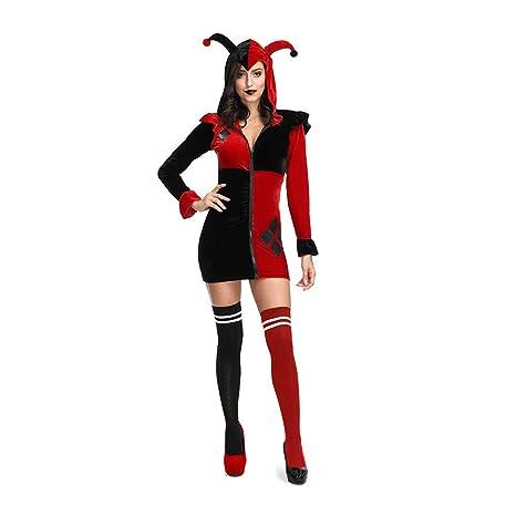Traje Adulto de Halloween Cosplay Payaso Mujer Juega Vestido ...