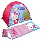 Hello Kitty 4 Piece Fun Camp Kit + Dome + Sleeping Bag + Flashlight, Outdoor Stuffs