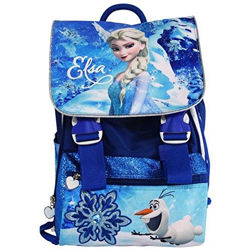 1706c751a0 Disney Elsa Frozen Zaino Estensibile Scuola Elementare Medie con Gadget in  Omaggio