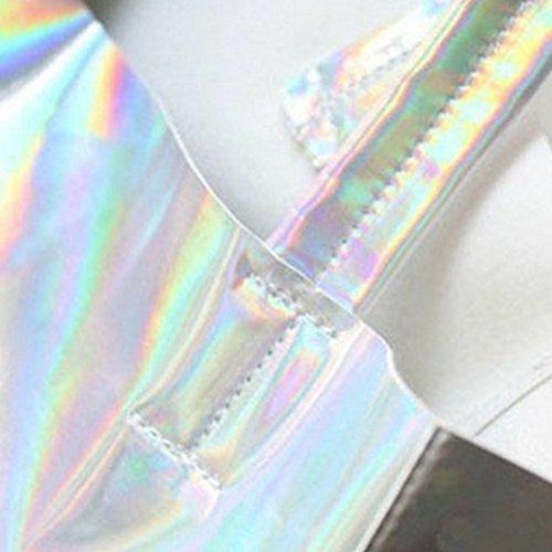 Mega , Damen Tote-Tasche silberfarben Einheitsgröße silberfarben