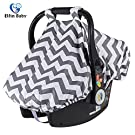 Elfinbaby Comfortable Carseat Canopy, Infant Canopy Covers For Any Girls or Boys Carseat (Gray Stripe)