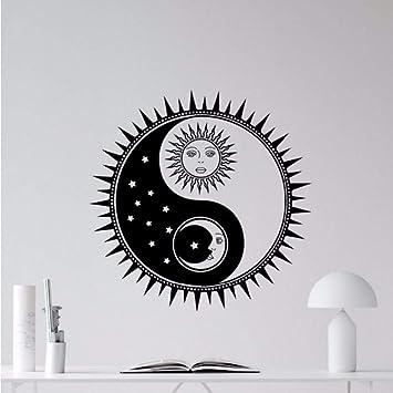 Pbldb 57X57 Cm Sol Y Luna Tatuajes De Pared De Vinilo Yin Yang ...