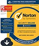 Norton Security Deluxe – 5 Devices, 1 Year Pre-Paid Subscription, Renews automatically for uninterrupted protection [PC/Mac/Mobile Download]
