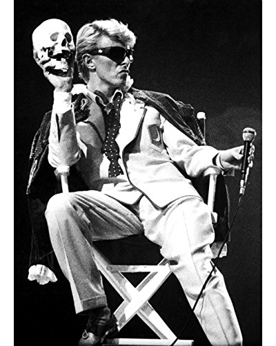 David Bowie With A Skull On Stage In Brussels - 8