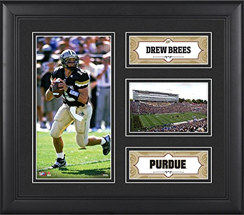 Purdue Boilermakers Framed (Drew Brees Purdue Boilermakers Framed 15