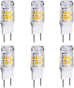 JCD T4 Bi-Pin JBM7195 WB36X10213 Microwave Light G8 120V 20W Bulb | GY8.6 Bulb Replacement for Halogen GE Oven Parts WB25X10019 WB08X10050 WB36X10246 (6-Pack, Daylight White) AC110V-130V