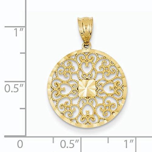 Fancy en filigrane en or 14ct et diamant Charme