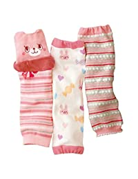Luckystaryuan ® Black Friday Set of 3 Cotton Baby Leg Warmer (girl style2)