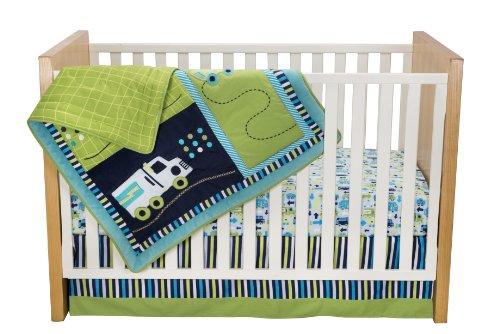 Zutano Crib Set, Traffic, 4 Piece (Discontinued by Manufacturer) ()