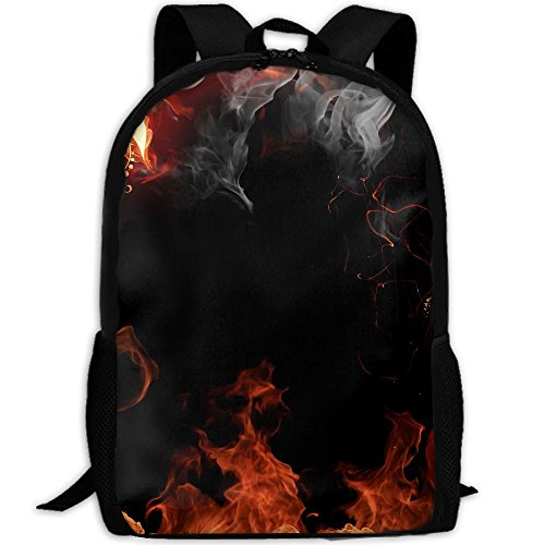 Price comparison product image Markui Adult Travel Hiking Laptop Backpack Fire Background School Office Multipurpose Zipper Bags Fashion Durable Daypacks