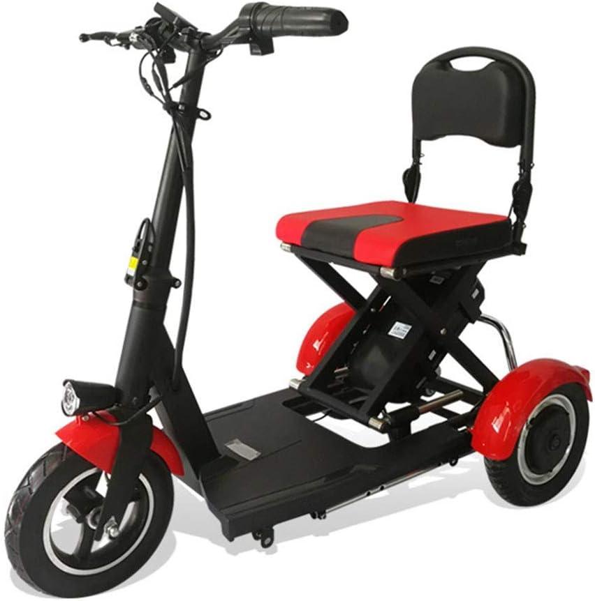 CYGGL Old Man Triciclo eléctrico Plegable Scooter Ligero deshabilitado 300W Potencia del Motor - Carga 120KG - Velocidad máxima 15 km/h - Diseño Antideslizante