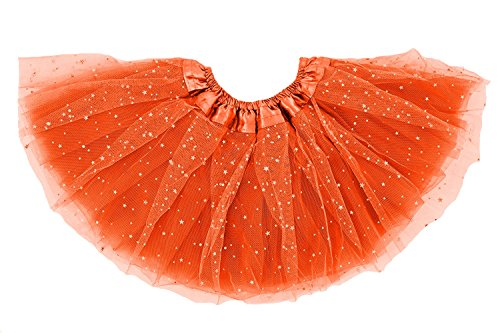 Dancina Big Girls Halloween Costume Tutu 8-13 Years Orange ()