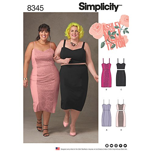 (Simplicity Creative Patterns US8345F5 Plus Size Dress, Top & Skirt, F5 (18W-20W-22W-24W-26W))