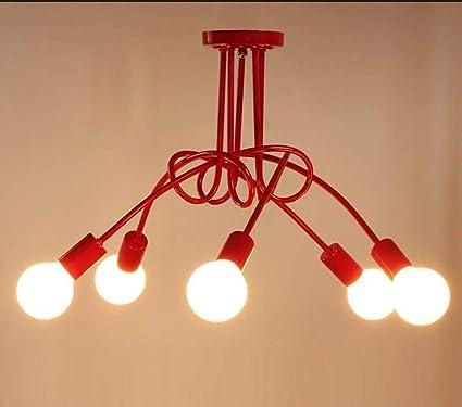 LUO Iluminación de Techo Simple Creativa Moderna Sala de ...